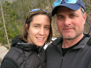 A selfie before selfies became selfies, me and my husband in Yellowstone Park several years ago...and look Mom, no makeup!